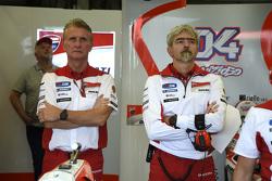 Paolo Ciabatti en Luigi Dall'Igna, Ducati Team