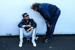 Pascal Wehrlein, HWA AG Mercedes-AMG C63 DTM met Norbert Haug,
