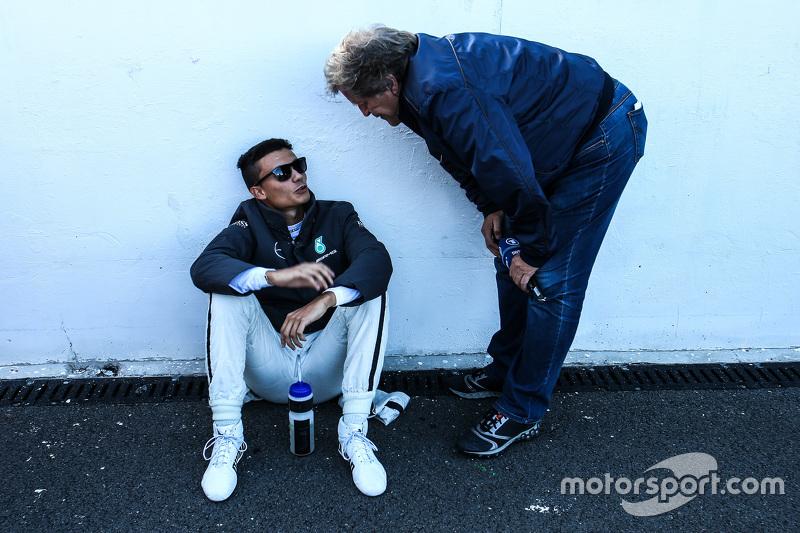 Pascal Wehrlein, HWA AG Mercedes-AMG C63 DTM avec Norbert Haug