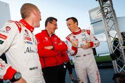 Слева направо: Пол Нейгл, Марек Наварецки и Крис Мик, Citroën World Rally Team