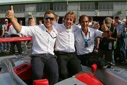 Audi-Legenden Tom Kristensen, Frank Biela, Emanuele Pirro