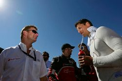 Allan McNish and Loic Duval, Audi Sport Team Joest