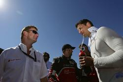 Allan McNish and Loic Duval, Audi Sport Team Joest