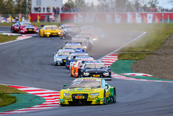 Partenza: Mike Rockenfeller, Audi Sport Team Phoenix Audi RS 5 DTM al comando
