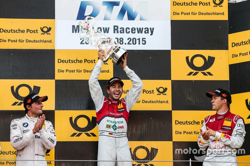 Podium: 2nd Bruno Spengler, BMW Team MTEK BMW M4 DTM, 1st Mike Rockenfeller, Audi Sport Team Phoenix