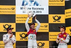 Podio: Segundo lugar Bruno Spengler, BMW Team MTEK BMW M4 DTM, Primer lugar Mike Rockenfeller, Audi