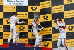 Подіум: 2-й Бруно Спенглер, BMW Team MTEK BMW M4 DTM, 1-й Майк Роккенфеллер, Audi Sport Team Phoenix Audi RS 5 DTM, 3-й Маттіас Екстрем, Audi Sport Team Abt Sportsline, Audi A5 DTM