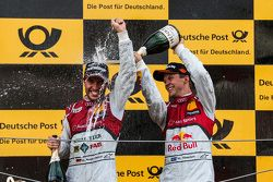 Podium: Mike Rockenfeller, Audi Sport Team Phoenix Audi RS 5 DTM and Mattias Ekström, Audi Sport Tea