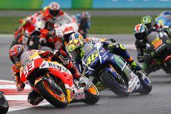 Marc Marquez, Repsol Honda Team e Valentino Rossi, Yamaha Factory Racing