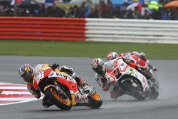 Dani Pedrosa, Repsol Honda Team, Danilo Petrucci, Pramac Racing Ducati e Andrea Dovizioso, Ducati Te