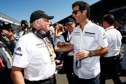 Dr. Wolfgang Porsche with Mark Webber, Porsche Team