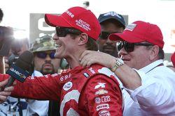 Il vincitore della gara e campione della serie Scott Dixon, Chip Ganassi Racing Chevrolet