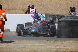 James Jakes, Schmidt Peterson Motorsports, choque
