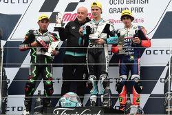 Podium : le deuxième, Jakub Kornfeil, Drive M7 SIC Racing Team, le vainqueur Danny Kent, Leopard Racing et le troisième, Niccolo Antonelli, Ongetta-Rivacold Honda