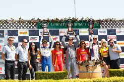 GT Cup Podium: First place #11 Kelly-Moss Motorsports Porsche 911 GT3 Cup: Colin Thompson, second pl