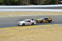 #50 Rehagen Racing/Picture Cars East Ford Boss 302: Dean Martin and #32 Phoenix American Motorsports Ford Mustang Boss302: Andrew Aquilante