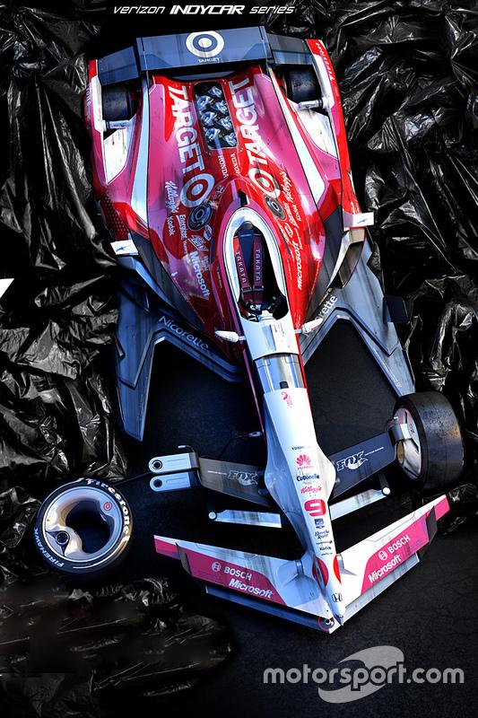 Posible diseño para los autos de IndyCar en 2035