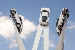 The new Inspiration 911 sculpture at the Porscheplatz