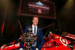 El campeón 2015 Scott Dixon, Chip Ganassi Racing Chevrolet