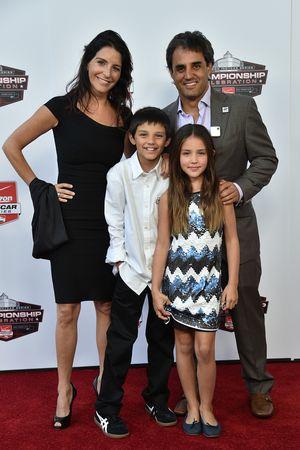 Juan Pablo Montoya, Team Penske Chevrolet with family
