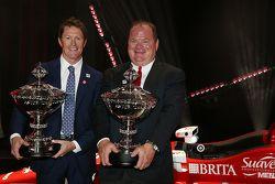 El campeón 2015 Scott Dixon, Chip Ganassi Racing Chevrolet y Chip Ganassi