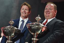 2015 champion Scott Dixon, Chip Ganassi Racing Chevrolet with Chip Ganassi