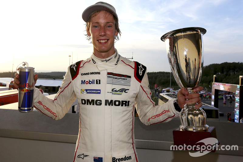 Race winner Brendon Hartley, Porsche Team