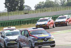 Misano azione di gara, Clio Cup Italia