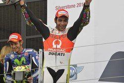 Podio: segundo lugar Danilo Petrucci, Pramac Racing Ducati y ganador Valentino Rossi, de Yamaha Factory Racing