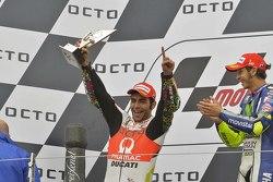 Podio: secondo posto per Danilo Petrucci, Pramac Racing Ducati, Pramac Racing Ducati e il vincitore