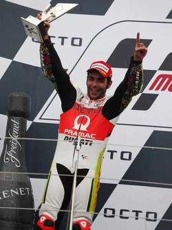 Podio: secondo posto per Danilo Petrucci, Pramac Racing Ducati
