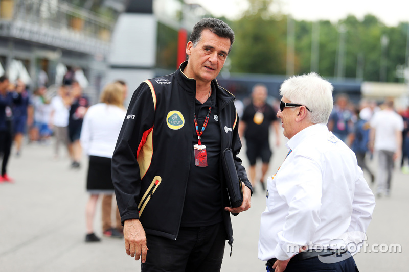 Federico Gastaldi, Lotus F1 Team Deputy Team Principal with Herbie Blash, FIA Delegate