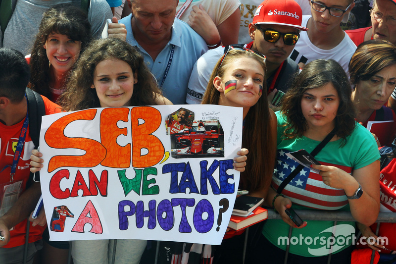 Fans von Sebastian Vettel, Ferrari