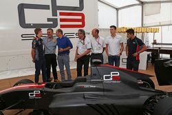 Daniil Kvyat and Bruno Michel and Didier Perrin and Alex Lynn and Mitch Evans