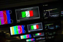 La bandiera italiana sugli schermi TV del Media Center
