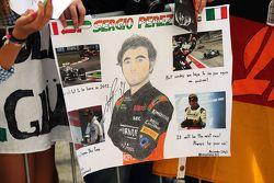 Sergio Perez, Sahara Force India F1 fans banner