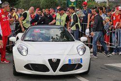 The Alfa Romeo road car of Kimi Raikkonen, Ferrari