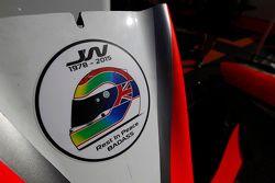 Tribute to the late Justin Wilson on car of Meindert van Buuren, MP Motorsport and Rene Binder, MP Motorsport