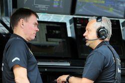 Alan Permane, Lotus F1 Team Trackside Operations Director met Paul Seaby, Lotus F1 Team Manager