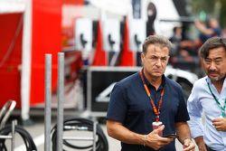 Jean Alesi in the GP3 paddock