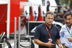 Jean Alesi in the GP3 paddock