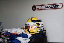 Helmet and race suit of Artur Janosz, Trident