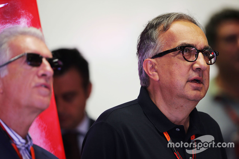 Piero Ferrari, Ferrari Vice-President with Sergio Marchionne, Ferrari President and CEO of Fiat Chrysler Automobiles