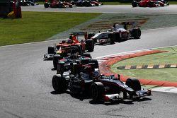 Sergey Sirotkin, Rapax devant Stoffel Vandoorne, ART Grand Prix et Alexander Rossi, Racing Engineering