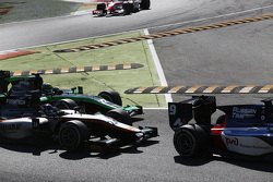 Симон Труммер, Hilmer Motorsport едет впереди Марлона Стокинджера, Status Grand Prix
