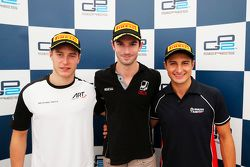 Race 1 Press Conference: second place Stoffel Vandoorne, ART Grand Prix and winner Alexander Rossi,