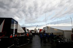 The GP3 paddock before qualifying