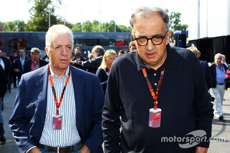 Piero Ferrari, Ferrari Başkan-Vekili ile Sergio Marchionne, Ferrari Başkanı ve Fiat Chrysler Otomobi