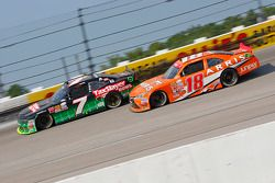 Regan Smith, JR Motorsports Chevrolet and Daniel Suarez, Joe Gibbs Racing Toyota