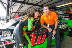Danica Patrick, Stewart-Haas Racing Chevrolet and Max Papis